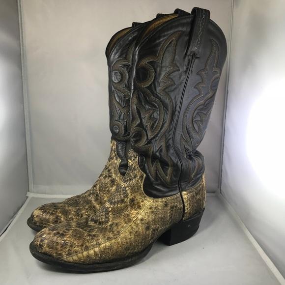 fa023667282 Tony Lamas 8845 Snake Skin cowboy/western Boots